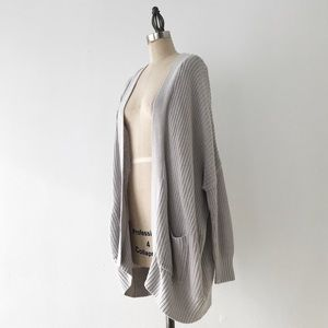 UO   BDG Oversized Longline Gray Cardigan